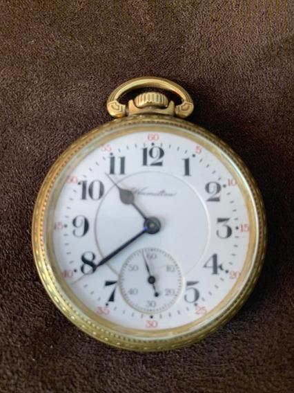 Reloj De Bolsillo Hamilton Ferrocarrilero