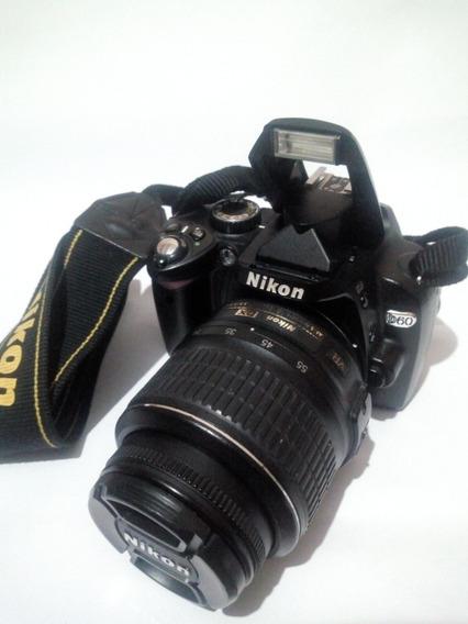 Nikon D60 Kit Com 18-55+ 1 Bateria Extra Original