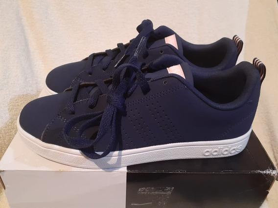Tenis adidas Neon No.24 Cm Azul Marino Original