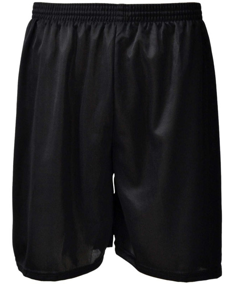 Calção Shorts Poliester Futebol Promoção - Preto