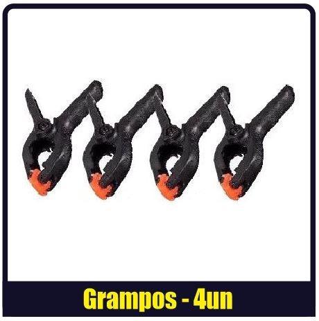 4 Grampos Para Estúdio Fotográfico 11cm E 4 Polegadas