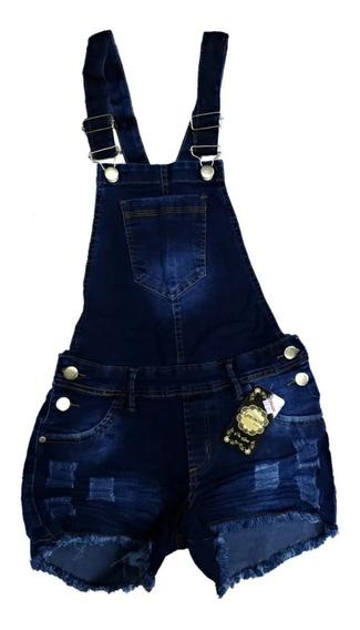 Roupas Femininas Jardineira Short Jeans Plus Size 36 Ao 54