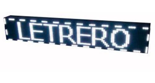 Imagen 1 de 9 de Letrero Luminoso Led Pasamensajes Programable 500 Caracteres