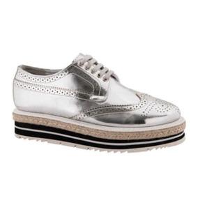 Zapatos Plateados Con Plataforma.