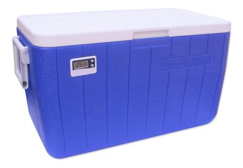 Imagem 1 de 3 de Caixa Térmica Com Termômetro 45,1 Litros - Coleman - Azul