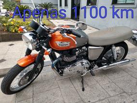 Triumph Boneville T 100 2015 Apenas 1100 Km Custumizada Troc
