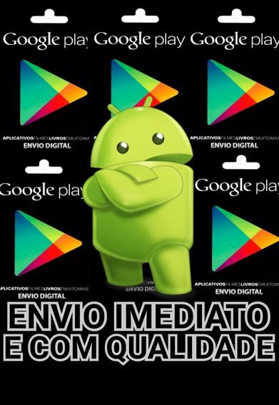 Cartão Google Play Store Gift Card R$15 -envio Na Mesma Hora