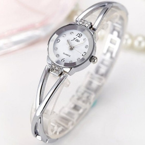 Relógio Feminino Jw 954 Prata Fundo Branco 1 Unidade 1098