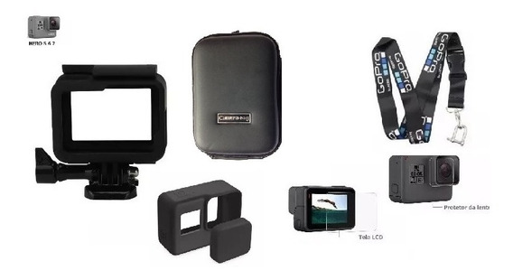 Kit Suporte Armação Moldura Frame Case Aberta Gopro Black 7