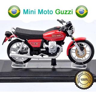 Miniatura Moto Guzzi Escala 1:22 Metal, 100% Novo Pronta Ent