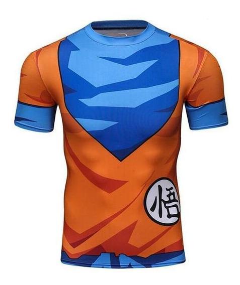 Camiseta Masculina Goku Dragon Ball Z Rashgard Slim Fit