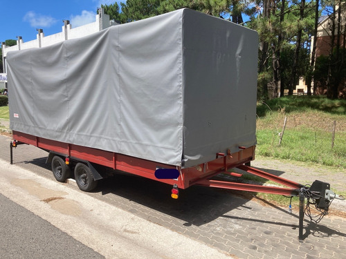 Trailer Para Transporte De Carga Cerrada Doble Eje