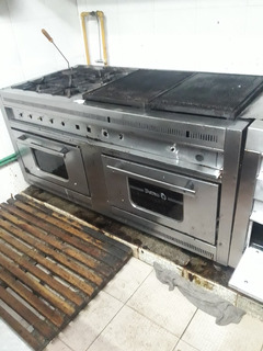 Cocina Industrial Doble Horno Y Plancha Poyin Muy Buena !!