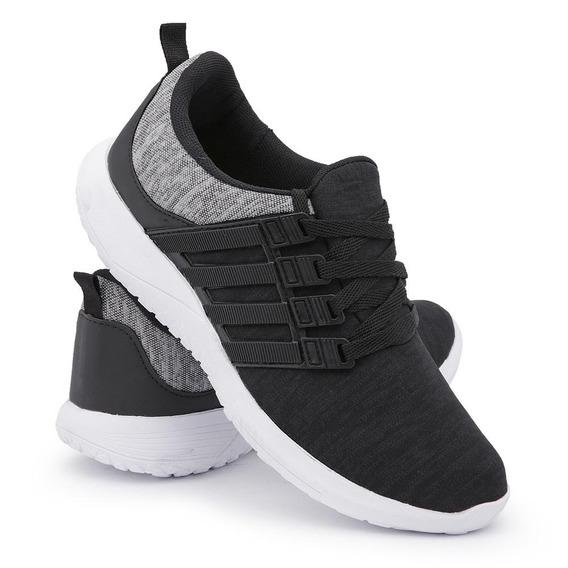 Tênis Sneaker Esportivo Running Leve Calce Fácil Dia/dia