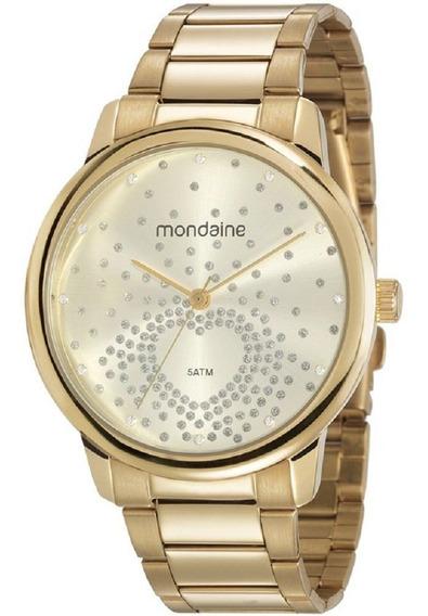 Relógio Mondaine Feminino Coração Dourado 53699lpmgde1 Nfe