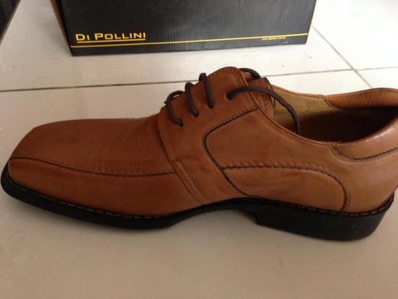 Sapato Casual Di Pollini Couro Pelica Vegetal Tam 41 Havana