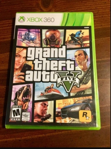 Gta V Grand Theft Auto 5 Usado Original Xbox 360