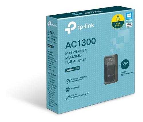 Tp-link, Adaptador Usb Wi-fi Banda Dual Ac1300, Archer T3u