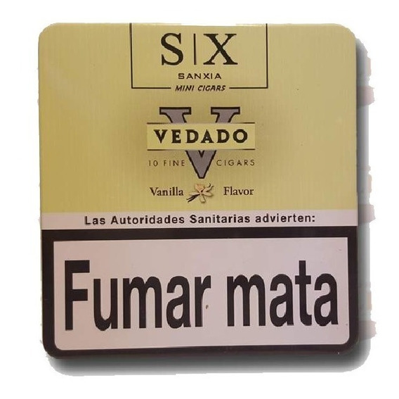 Cigarros Vedado Mini Vainilla Lata X10 Cigarritos Puritos