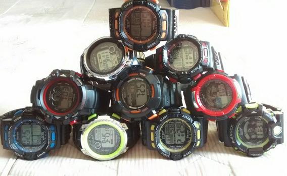 Kit Com 10 Relógios Digital Esport C/ Led Troca Cor Barato