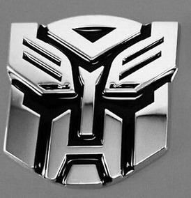 2 X Pças Adesivo Decalque Carro Logotipo 3d Transformers