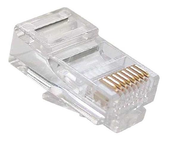 Conector Rj45 Cat5e Caja 100und Utp Jack Coupler Red
