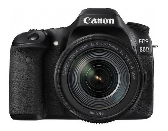 Câmera Canon Eos 80d C/ Lente 18-135mm Is Usm