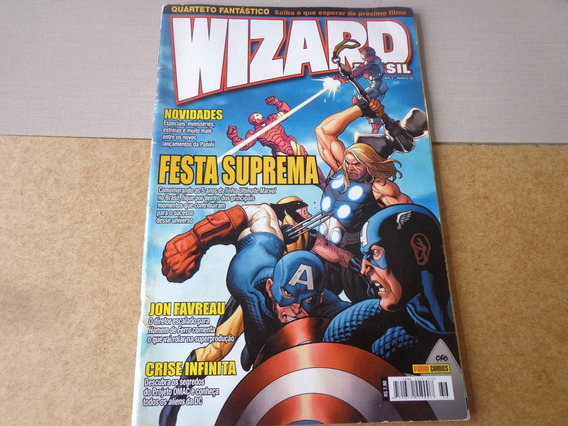 Gibi Wizard Brasil Festa Suprema Ano 3 Número 36 Panini 2006