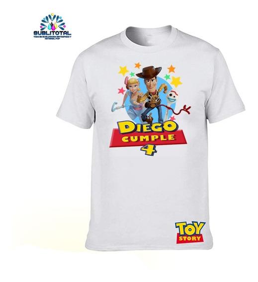 Franelas Algodón Niños Toy Story Sublimadas Personalizadas