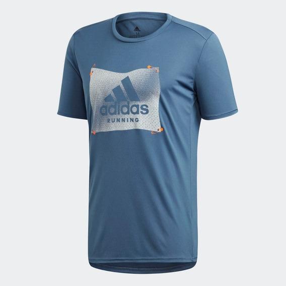 adidas Playera The Run Badge Of Sport Graphic Envio Gratis