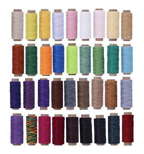 Hilo Encerado De 36 Colores Hilo De Piel Colorido De 1188 Ya