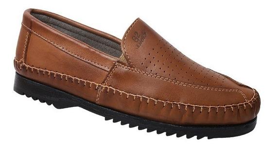 Sapatilha Masculina Em Couro Legítimo Gs Shoes Ref.:1378c