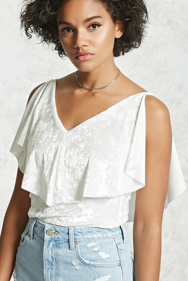 Top Musculosa Forever 21 Blanco Talle S - 7106