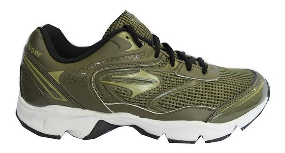Zapatillas Topper Running Softrun Mujer Verde Militar