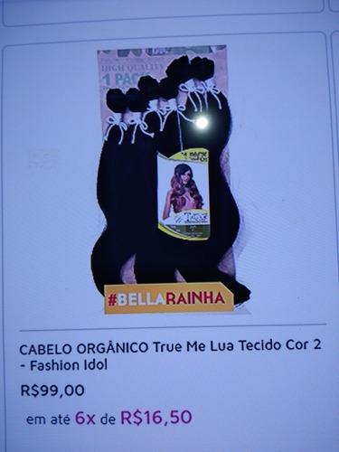 Imagem 1 de 1 de Cabelo Orgânico True Me Lua Tecido 1b Fashion Idol