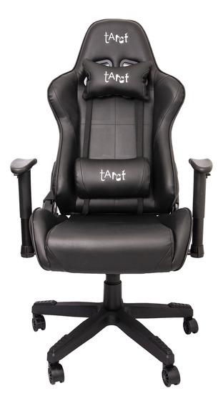 Cadeira Gamer Tarct, Preto/preto, Tct-9012