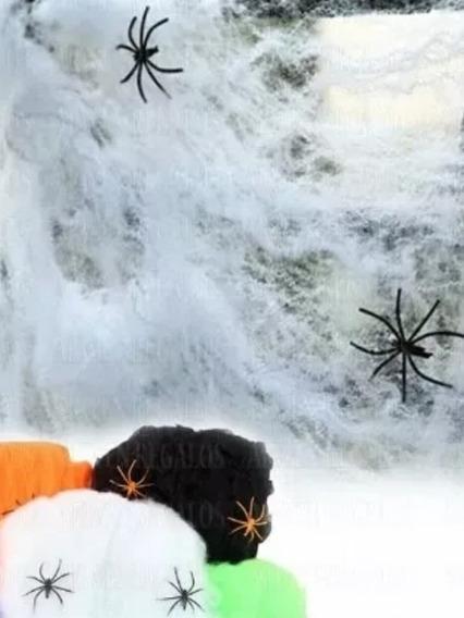 Tela De Araña Deco Para Halloween Fiesta De Disfraces 3 Unid