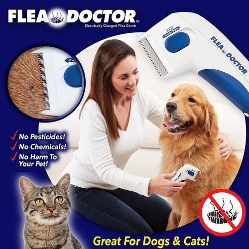 Imagen 1 de 4 de Peine Anti Pulgas- Cepillo Anti Pulgas Eléctrico P/mascotas