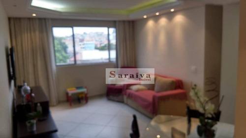 Apartamento Com 3 Dormitórios À Venda, 74 M² Por R$ 350.000,00 - Centro - Diadema/sp - Ap3954