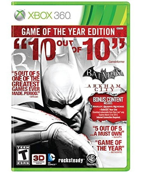 Batman Arkham City Xbox 360 Original Midia Fisica