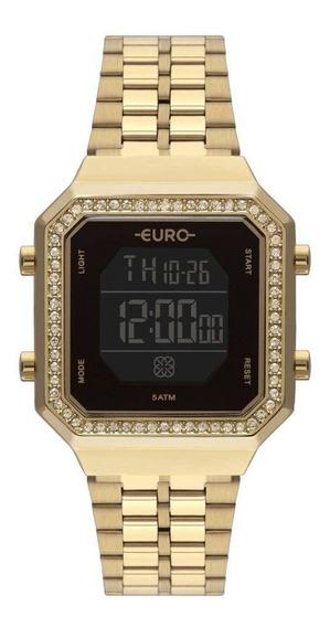 Relógio Euro Feminino Fashion Fit Dourado Eubjk032ab/4p