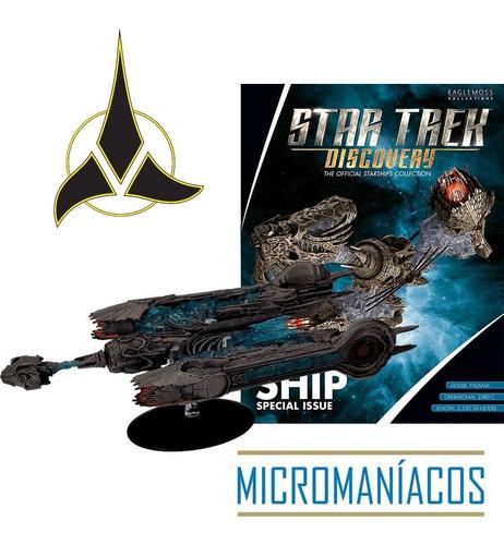 Imagem 1 de 6 de Klingon Sarcophagus Ship Star Trek Eaglemoss - Frete Grátis