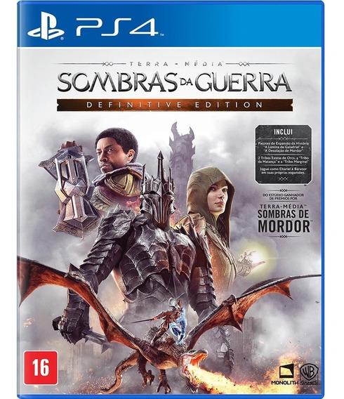 Sombras Da Guerra Definitive Edition Ps4 Jogo Mídia Física