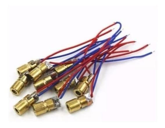 10 Unidades Diodo Laser Mini 650nm 6mm 3v 5mw
