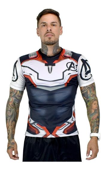 Camiseta Camisa Compressão 3d Vingador Herói Homem De Ferro