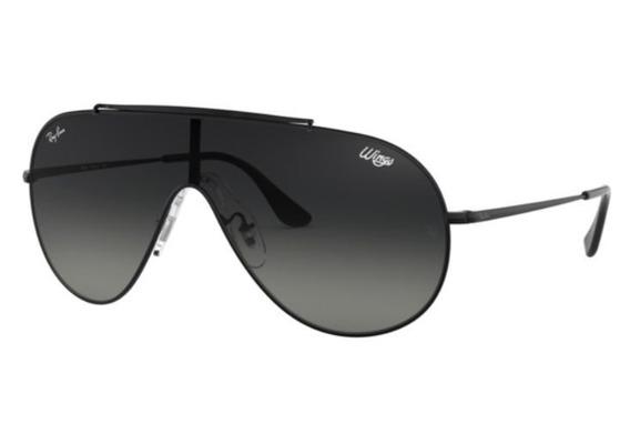 Oculos Sol Ray Ban Wings Rb3597 002/11 Preto Lt Cinza Degrad