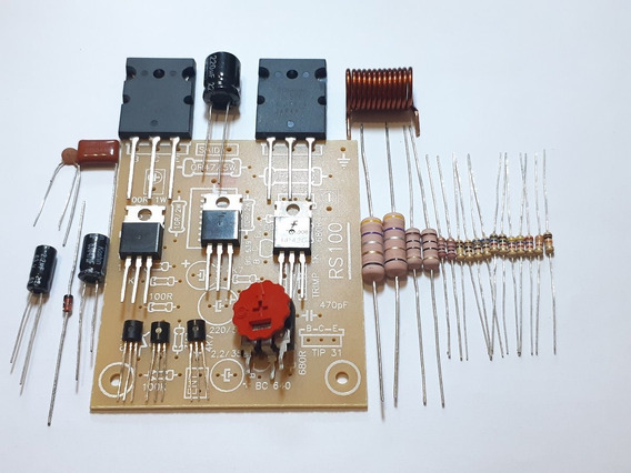 Kit Amplificador 100w Rms Com Transistores Originais Toshiba