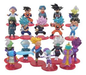 Kit 18 Dragon Ball Z Bonecos Goku Black Action Figure S127