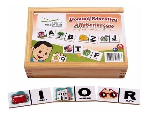 Jogo Dominó Alfabetização 28 Peças