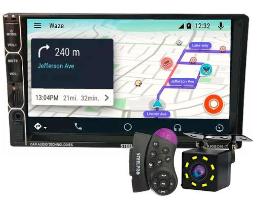 Imagen 1 de 5 de Autoestereo Steelpro Carbon-72mp Bluetooth Mirror Link Camar